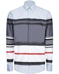 Givenchy Contrast Sleeve Striped Shirt - Lyst