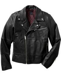 Gap Leather Biker Jacket - Lyst