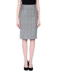 Emanuel Ungaro Knee Length Skirt black - Lyst