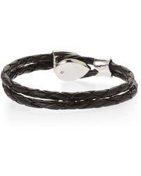 B5 Line Nyc - Black Braided Loop Bracelet - Lyst