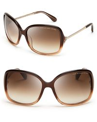 Marc By Marc Jacobs Oversized Sunglasses brown - Lyst