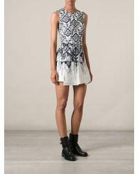 McQ by Alexander McQueen Printed Peplum Dress - Lyst