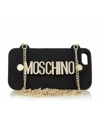 Moschino Lettering Quited Iphone 5 Case - Lyst