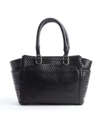 Christian Louboutin Black Leather Diamond Quilted Farida Bowler Bag - Lyst