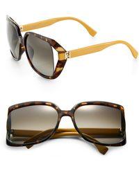 Fendi Square-Frame Sunglasses - Lyst
