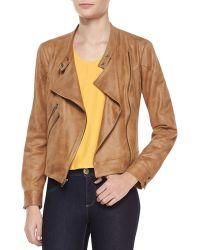 Waverly Grey - Morgan Draped Fauxleather Jacket - Lyst