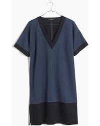 Madewell Blue Sidezip Shiftdress - Lyst
