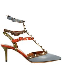 Valentino Shoes 55 Hell Rockstud Leather Multicolor with Studs - Lyst