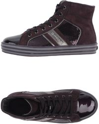 Hogan Rebel Purple Hightops  Trainers - Lyst