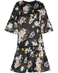 Erdem Logan Floral-print Silk-satin Trapeze Dress - Lyst
