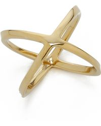 Michael Kors Pave X Ring - Gold/Clear - Lyst