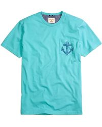 Brooks Brothers Anchor Graphic Tee Shirt - Lyst