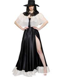 Daniele Carlotta Ruffled Silk Satin & Organza Dress - Lyst