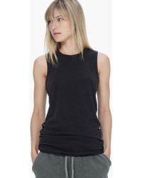 James Perse Sueded Jersey Skinny Tank - Lyst