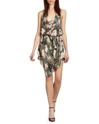 Haute Hippie Printed Silk Cowl Dress - Lyst
