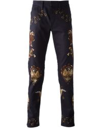 Dolce & Gabbana Medieval Print Jeans - Lyst