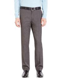 Calvin Klein Charcoal Twill Slim Fit Pants - Lyst