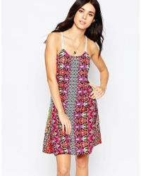 Diya - Dress With Crochet Straps - Lyst