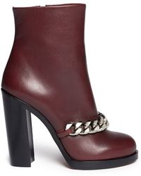 Givenchy Chain Leather Ankle Boots - Lyst