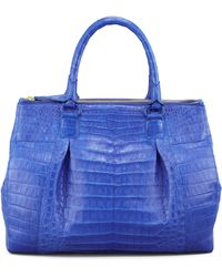 Nancy Gonzalez Executive Doublezip Crocodile Tote