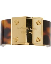 Michael Kors Mk Logo Plaque Ring - Lyst