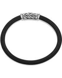 David Yurman Leather Bracelet In Green - Lyst
