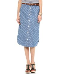Steven Alan - Button Down Skirt - Disch Nature - Lyst