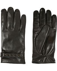 Valentino Studded Nappa Leather Gloves - Lyst