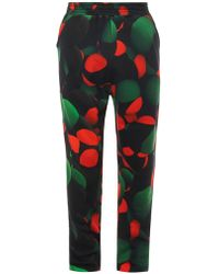 Christopher Kane Atom-Print Cotton Track Pants - Lyst