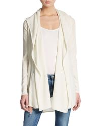 Vince Hooded Cashmere Cardigan - Lyst