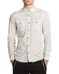 The Kooples Sport Speckle Print Cotton Shirt - Lyst