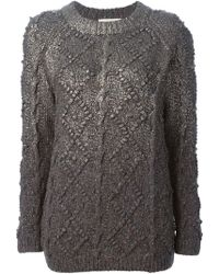 Tory Burch Cable Knit Sweater - Lyst