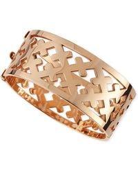 Katie Design Jewelry Rose Gold Crosses Cuff Bracelet