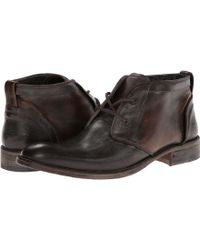 John Varvatos Freeman Raw Edge Chukka - Lyst