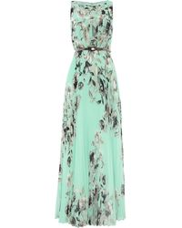 Eliza J Printed Pleated Maxi Dress - Lyst