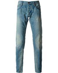 Emporio Armani Straight Leg Jeans - Lyst
