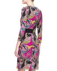 Etro Long-Sleeve Paisley Cady Dress - Lyst