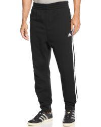 Adidas Striped Slimfit Sweatpants - Lyst