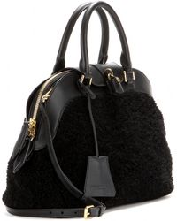 Burberry Prorsum - Milverton Shearling and Leather Tote - Lyst