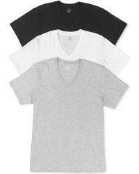 Calvin Klein Mens Classic Vneck Tshirt 3pack - Lyst