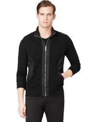Calvin Klein Mixed Media Pique Fleece Vest - Lyst