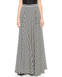 Milly Striped Maxi Skirt Blackwhite - Lyst