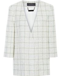 Wes Gordon - Checked Linen, Cotton And Silk-blend Tweed Jacket - Lyst