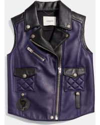COACH | Applique Biker Vest | Lyst