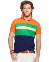 Polo Ralph Lauren Custom-Fit Colorblocked Mesh Polo - Lyst