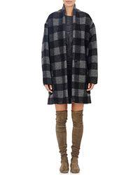 Etoile Isabel Marant Bouclé Garbie Coat gray - Lyst