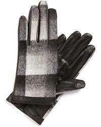 Halogen - Plaid Tech Gloves - Lyst