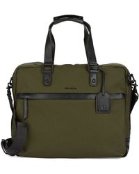Cole Haan Canvas And Leather Briefcase Messenger Bag - Lyst