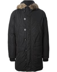 Diesel Fauxfur Trimmed Hooded Jacket - Lyst