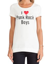 Love Moschino Punk Rock Boys Tee - Lyst